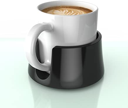 TableCoaster – The ultimate anti-spill cup holder drink coaster for your table or desk, Jet Black