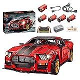 TRCS Cochecito deportivo de 3386 piezas Speed Champions teledirigido coche de carreras con motor y juego de iluminación MOC, bloques de sujeción, compatible con Lego Technic Shelby GT500