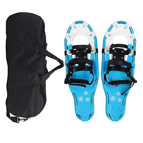 Keenso Racchette da Neve da 25 Pollici da Esterno, Telaio in Alluminio Leggero Campo da Neve Flessibile Ciaspole da Passeggio Flessibili Scarpe da Trekking con Fibbia a sgancio rapido Blu