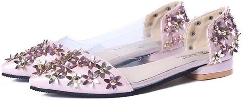 COLOV Fashion New Sparkling Embellish Glitter Slip Loafer Pointed Flat shoes