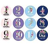 12 Unids/Set Bebé Mujeres Embarazadas Etiqueta de Fotografía Mensual Divertido Mes Hito Pegatinas DIY Kid Souvenirs Prop