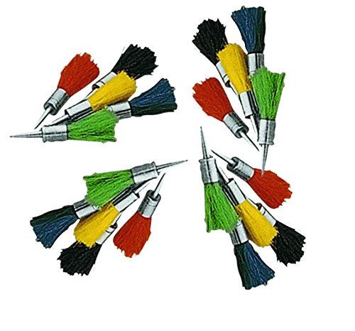 Set 20 flechas reutilizables de pelo de colores para usar en carabinas de aire comprimido del calibre 4,5mm.