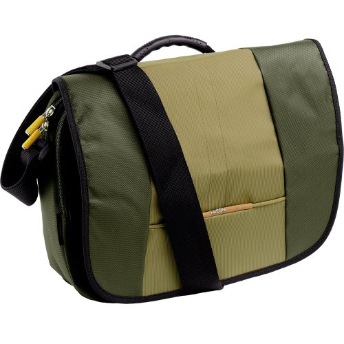 Falcon FI2535 Khaki shoulder 14' laptop notebook briefcase bag
