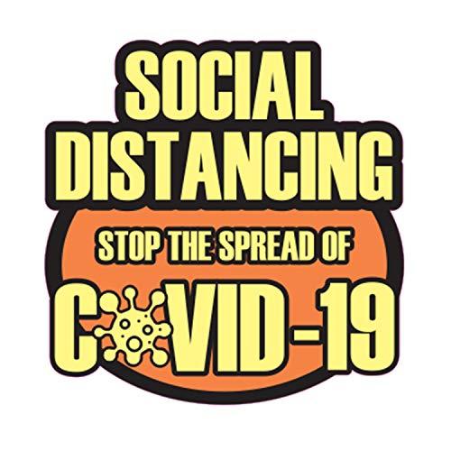 Practice Social Distancing Stop The Spread of COVID-19 Coronavirus - Adhesivo para suelos (30,5 x 30,5 cm, diseño 4)