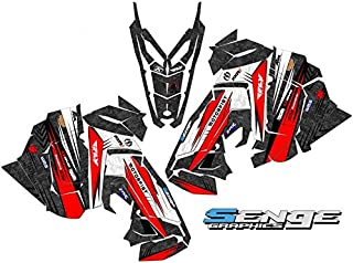 Compatible with Polaris 2015-2017 Axys RMK DEVIOUS Red Sled Wrap Kit