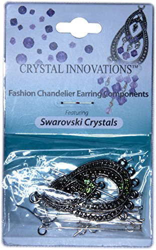 Crystal Innovations Fashion Peridot Green Chandelier Earring Components