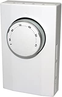 KING K101 Single Pole Line Voltage Thermostat 120Volt/240Volt, White