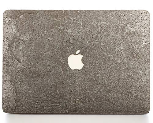 WOODWE® Real Stone MacBook Skin for Mac Air 13 inch Retina Display   Model: A1932; Late 2018   Natural Silver Grey Stone   TOP&Bottom