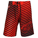 "Detroit Red Wings NHL ""ストライプ""メンズBoardshorts Swim Trunks XL レッド"