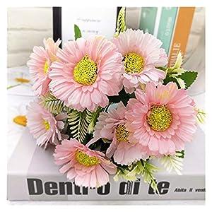 Silk Flower Arrangements JJSNN Artificial Flowers 1pcs Silk Camellia Artificial Flower Sun Flower
