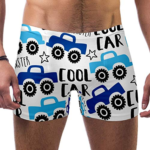 TIZORAX heren zwembroek Short Cool Truck Car vierkant been badpak ondergoed Jammer brief