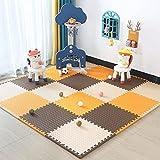 E.enjoy-Suelos de Gimnasio Almohadilla de Espuma de bebé Jigsaw Puzzle Pad Foam Pad Early Childhood Educational Juego Pad Una Variedad de Colores con Bordes