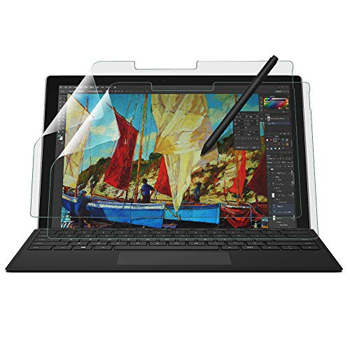 BELLEMOND 2 SET Made in Japan High Grade Kent Paper Screen Protector for Surface Pro 6 2018 / Surface Pro 2017 12.3' - Reduces Pen Point Wear by up to 86% - Anti-reflection film