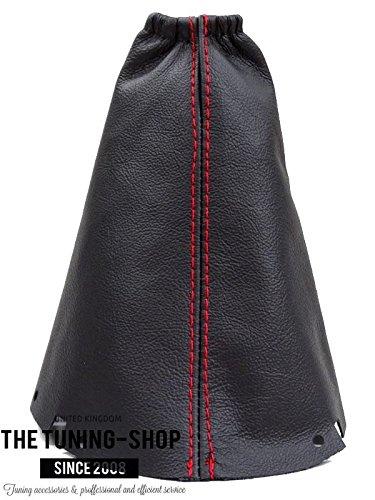 Für Nissan Micra K122006–2010manuell Schaltsack schwarz Italienische Leder mit roten Nähten