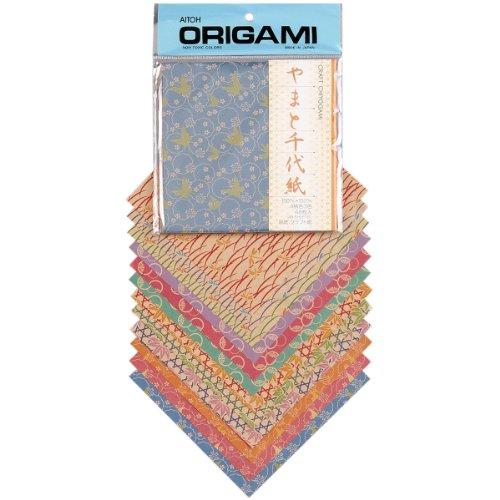 """Aitoh 48/Pkg créations-Papel de Origami Chiyogami 5.875""""X5.875"""