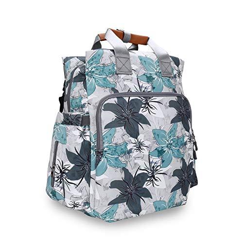HBIAO Sac À Dos À Langer Bébé Étanche, Mode Maternity Diaper Backpack Sac à Couches étanche Big Bag Travel Backpack Designer Poussette Baby Bag,C