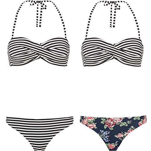 Maui Wowie Damen Bikini Set blau 38 / B/C