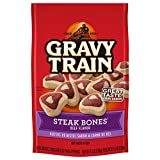 Gravy Train Steak Bones Beef Flavor Dog Snacks, 4.5 Oz (Pack Of 12)
