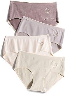 ショーツ レディース 純綿 パンツ 女性下着 女性美形ショーツ 中間ウエスト 高通気性と伸縮性 ヒップショーツ 4枚セット