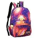 Goddessvan Unisex Pattern Travel Backpack Canvas Leisure Bags School Bag Star Backpack Pink