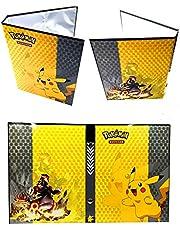 Carpeta de Titular de Tarjetas de Pokemon, álbumes de Entrenador Pokemon Tarjetas GX EX, álbumes de Tarjetas coleccionables, 20 páginas - Puede Contener hasta 160 Tarjetas, (Pikachu Cover)
