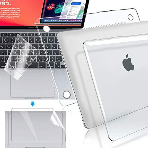 【M1チップ搭載モデル】MacBook Air 13インチ 2020(A2337/A2179) 用 ケース クリア 日本語JIS配列 キーボードカバー トラックパッド保護フィルム 超薄型 軽量 排熱口設計 マックブックエアー 13 ハードカバー