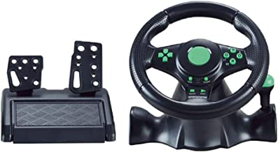 $97 » Kokiya Pro Steering Wheel and Pedals Set, Realistic Steering Wheel Controller for Console Car Racing Simulator Driving Gam...