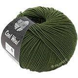 Lana Grossa Cool Wool 2000 2042 - Gomitolo di lana, 50 g, colore: Verde oliva scuro