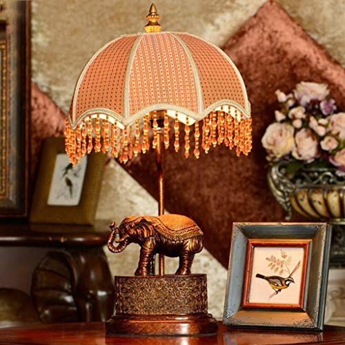 JIAHONG Lámpara de mesa de Lámparas de mesa, personalidad simple Continental retro del dormitorio de la lámpara, lámpara de cabecera, lámparas de mesa, lámpara de estudio, elefante luz de la noche de