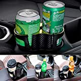 SRu Car Cup Holder Expander Adapter with Adjustable Base Unique 2 in 1 Design Beverage Can Coffee Bottles Stand,Universal Detachable Water Cup Holder (2 in 1 Golden Edge)