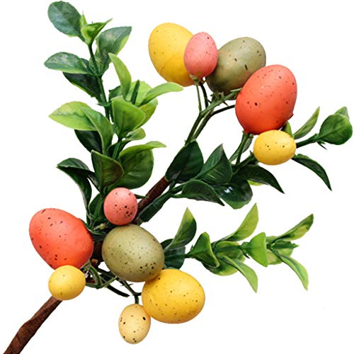 niumanery Easter Egg Tree Decorations Simulation Leaf Creative Branch String Home Ornament