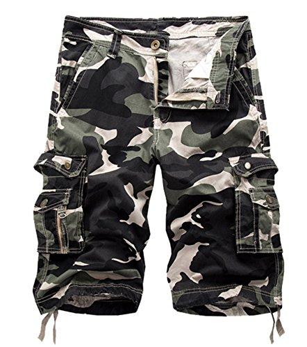 Panegy Nuevo Pantalones Cortos Cargo Camo Camuflaje