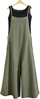 Women's Jumpsuits Casual Long Rompers Wide Leg Baggy Bibs Overalls Pants S-5XL