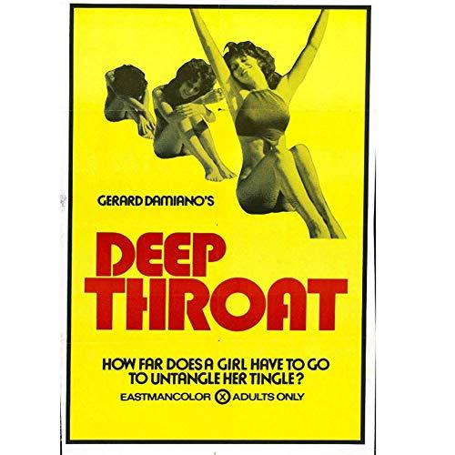 arteWOODS DEEP Throat Film Leinwandbilder Drucke Wandkunst für Wohnzimmer Schlafzimmer Dekor 50x70cm No Frame