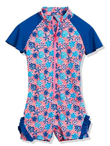 Playshoes Mädchen Einteiler Veilchen mit UV-Schutz, Mehrfarbig (LACHS 41), 98