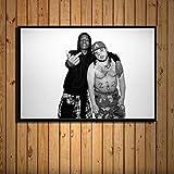 ganlanshu Rock Rap Music Hip-Hop Rapero póster Lienzo Pintura Vintage Arte de la Pared decoración,Pintura sin marco-50X75cm