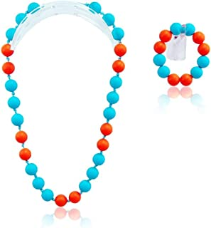 GumJunior | Kids Silicone Necklace | Fun, Safe & Fashionable | 'Lola' Necklace & Bracelet Set | Kids 3+