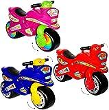 alles-meine.de GmbH XL Kinderlaufrad -  Motorrad - Mädchen Farbe  - Lauflernrad - für Innen &...