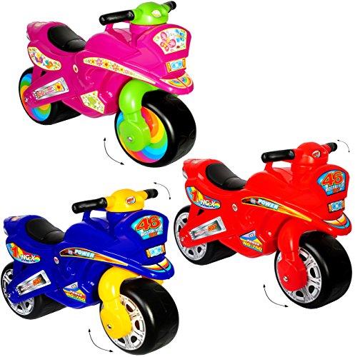 alles-meine.de GmbH XL Kinderlaufrad -  Motorrad - Mädchen Farbe  - Lauflernrad - für Innen & Außen - extra breite Reifen - selbstständig stehend - Rutschfahrzeug / Rutschauto ..