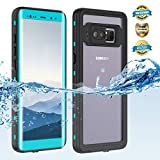 Samsung Galaxy Note 8 Waterproof Case, Shockproof Dustproof Snowproof Hard Shell Full-Body Underwater Protective Box Rugged Cover and Built in Screen Protector for Galaxy Note 8(Grass Blue)