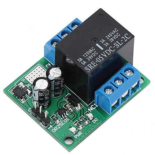 YJDSZD Componentes electrónicos DR25E01 DC 6-24V 3-5A Flip-Flop Latch Módulo de relé DPDT Interruptor de autobloqueo biestable Tablero de activación de Pulso bajo Compatible con Motor LED PLC