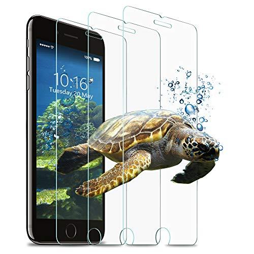 Wsky [3 Stück] Panzerglas für iPhone 7 Plus / 8 Plus, 9H-Härte, Blasenfreies, Anti-Fingerprint, HD Panzerglasfolie, Anti-Kratzen Schutzfolie für iPhone 7 Plus / 8 Plus