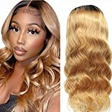 4x4 Lace Wig Blonde 27 Color Wig Ombre Human Hair Wigs For Black Women Wet And Wavy Human Hair Wig Ombre Remy Human Wig Body Wave Perruque Bresilienne 1b/27 By NIUDINNG Human Hair