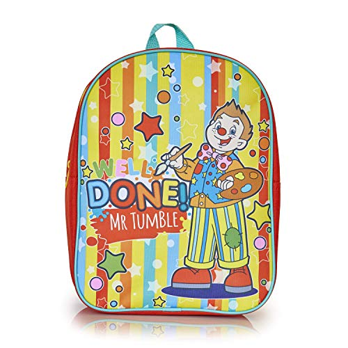Mr Tumble Spotty Bag | Goed gedaan Mr Tumble Peuters Rugzak voor School, Kwekerij of Reizen | Kindergarten Rugzak voor Meisjes, Jongens | Kids Tas voor School | Gift for Kids 3 4 5 6 Jaar