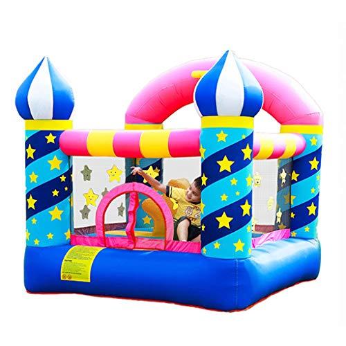 Castillo Travieso Inflable Moda Magic Castle Home Trampoline Entretenimiento Infantil Cerca De Juego Ejercicio Niños (Color : Multicolor, Size : 225 * 220 * 215cm)