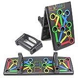 Konesky Pieghevole Push Up Board 14 in 1, Colore Power Press Push Up Rack Staffa Board con Manico per Palestra Home Fitness Esercizio di Allenamento, Sistema di Supporti per Esercizi