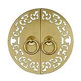 Aldaba Excisitamente tallado alige al alojamiento chino estilo chino muebles decoración de decoración accesorios de hardware aldaba para armario gabinetes de zapatos Aldabas de puerta