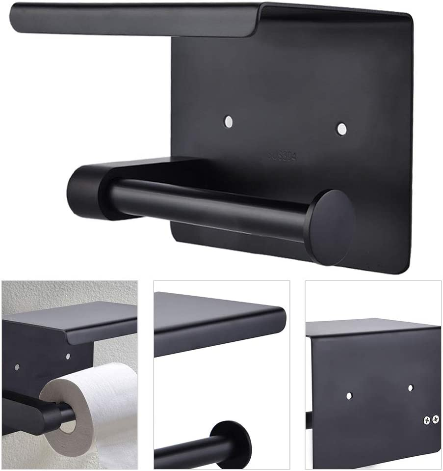 Support de bo/îte de Rouleau de Papier hygi/énique /à Montage Mural pour Toilettes Support de t/él/éphone de Rouleau de Papier Toilette Jadeshay Support de Papier #1