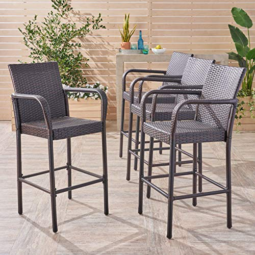 Christopher Knight Home Delfina Barstool Set, 4-Pcs Set, Multibrown