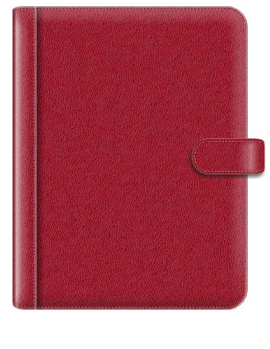 Pierre Belvedere A4/Letter Size Snap Portfolio, Refillable, Red (579250)